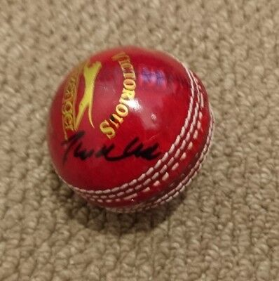 Phil Tufnell England cricket signed Cricket Ball AFTAL PROOF