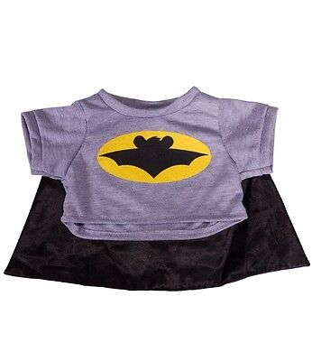 """Bat Bear T-shirt with cape outfit teddy clothes fits 15"""" Build a Bear"""