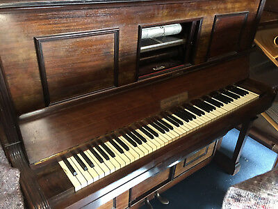 John Malcolm Upright Pianola and rolls