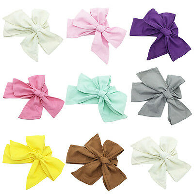 Newborn Baby Girl Infant  Big Bow Wide Headband Hair Band Headwrap Accessories
