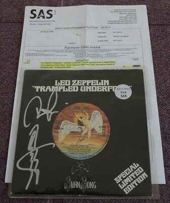 Led Zeppelin Limited Sleeve Signed By Robert Plant, Jimmy Page & John Paul Jones