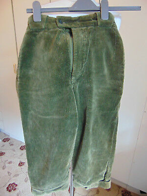 Vintage corduroy fustian knee breeches trousers Cudworth outdoor wear Waist 28""