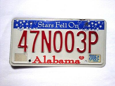 2006 ALABAMA MADISON COUNTY Vintage License Plate # 47N003P