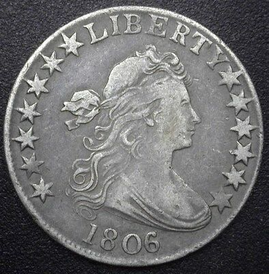 1806 Draped Bust Silver 50 Cents  Xf/au  Rare!