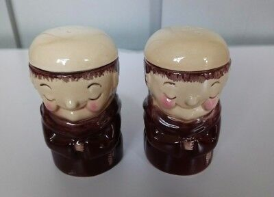 WEISS Friar Monk Egg Cups Pepper Tops Collectors Y1