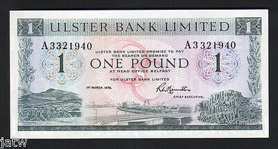 NORTHERN IRELAND  P-325.  Ulster Bank.. 1976 1 Pound.. UNC