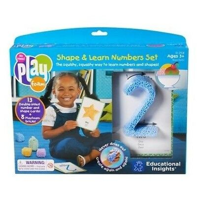 Learning Resources Playfoam Shape and Learn Numbers Set