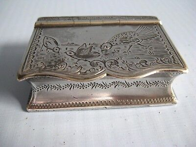 Antique Snuff box silver plated