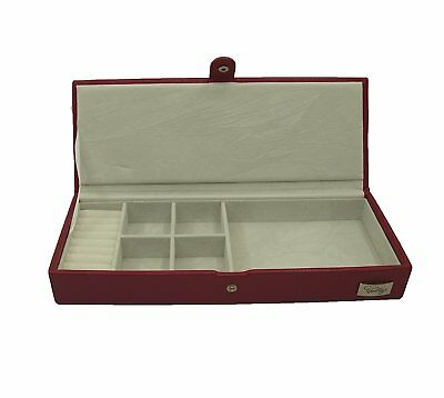 Cordays Handmade Premium Cognac Small & Slim Safety Jewellery Box CDL-10033P