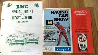 BMC STP Programme and Catalogue from 1969 racing car show held at OlympiaJan