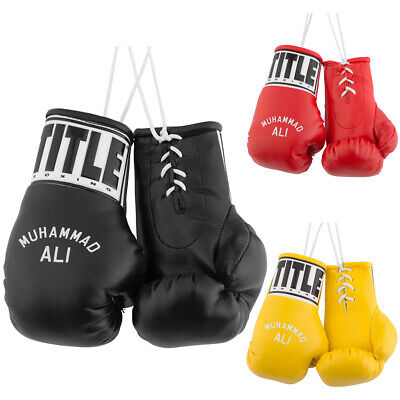 "Title Boxing 5"" Authentic Detailed ""Muhammad Ali"" Mini Lace Up Gloves"