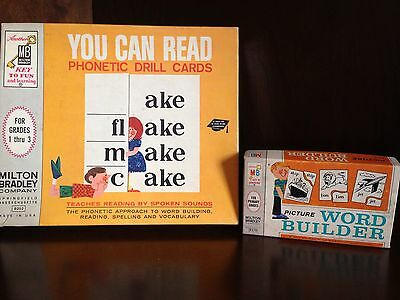 Vintage Milton Bradley School Supplies You Can Read Word Builder English Learn