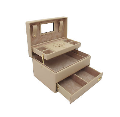 Cordays Handmade Premium Ivory Auto Opening Medium Jewellery Box with 3 Levels C