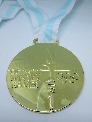 LAKE PLACID 1980 Olympic Replica GOLD MEDAL