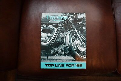 TRIUMPH TOP LINE FOR 69  Motorcycle Brochure