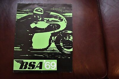 B.S.A. 69 RANGE Motorcycle Sales Brochure
