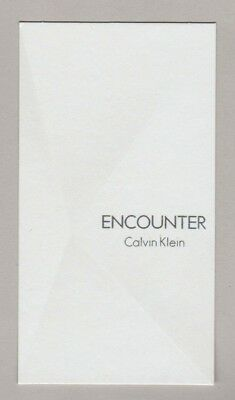 Carte publicitaire - advertising card-  Encounter Calvin Klein