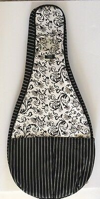Glove It GloveIt Tennis Racquet Cover Sling Bag Floral Striped Black White NEW