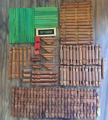 Preowned Lincoln Logs 188 Pieces Mixed Shapes and Sizes