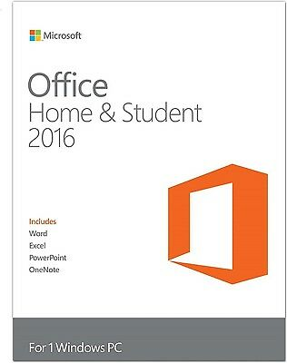 OFFICE 2016 HOME and STUDENT MULTI 32/64 BIT ESD KEY LICENSE PRODUCT RETAIL