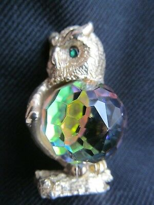 OWL Ornament with Large Crystal Element Stunning