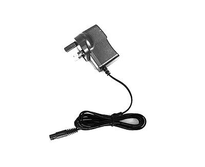 Mains Power Charger Uk Plug For Remington R8150 Dual Track Rotary Shaver