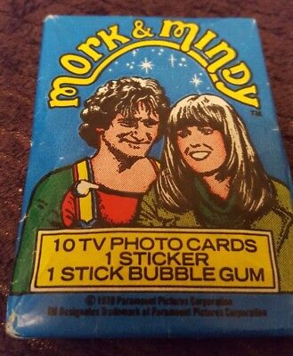1978 PeeChee Mork and Mindy (TV) Trading Card 1 Pack