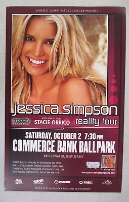 """2004 Jessica Simpson And Stacie Orrico Reality Tour Concert Promo Poster 22"""""""