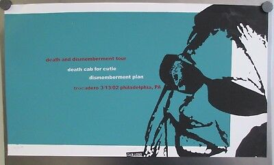 March 13 2002 Death Cab For Cutie Death And Dismemberment Tour Poster # 36 Of 50