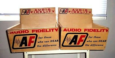 """Vintage """"audio Fidelity"""" Countertop Store Display Boxes ~ Audiophile ~ Ex.cond"""