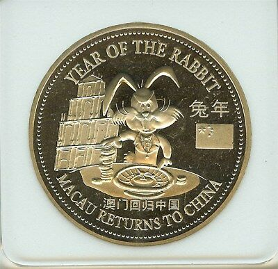 Macau Returns To China 1999 Trade $1 -Roulette- Near Perfect Proof Dcam