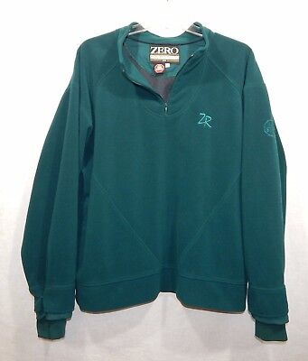 Zero Restriction Fleece Pullover Gore Wind Stopper Xl X-Large Jacket Golf Shirt