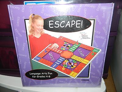 ESCAPE! Language Arts Fun Grades 4-8 Game Creative Teaching Assoc TEACHERS NEW