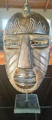 Wood Carved Tribal Mask