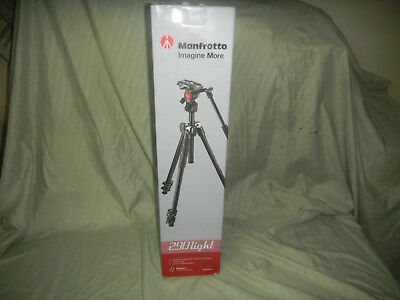 Manfrotto 290 Light 2-Stage Aluminum Tripod with Befree Live Fluid Video Head