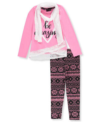Dream Star Big Girls' 2-Piece Outfit with Scarf (Sizes 7 - 16)
