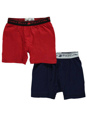 Beverly Hills Polo Club Little Boys' Toddler 2-Pack Boxer Briefs (Sizes 2T - 4T