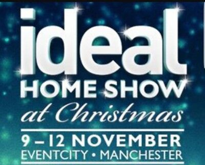 2 x Ideal Home Show At Christmas Manchester 2017: Sunday 12th November