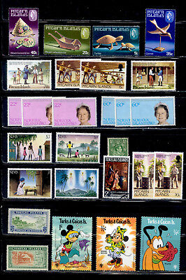 Islands 27 Stamps Norfolk Pitcairn Turks Tokelau Mint & Used