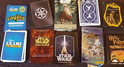 Trading Cards Bundle Harry Potter Star Wars Club Penguin  And More