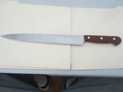 "Vintage HERDER'S Solingen Germany Slicer Knife  Staininless Steel  10"" Blade"