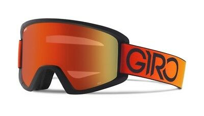 NEW Giro Semi Black Red Mirror Mens ski goggles +xtra lens 2017 Msrp$80