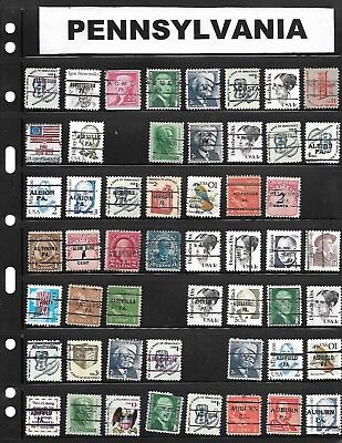 Mounted Collection Of 1215 Different Pennsylvania  Precancels !!!
