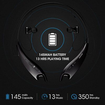 Mpow Jaws V4.1 Bluetooth Headphones Wireless Neckband Headset Stereo Earphones
