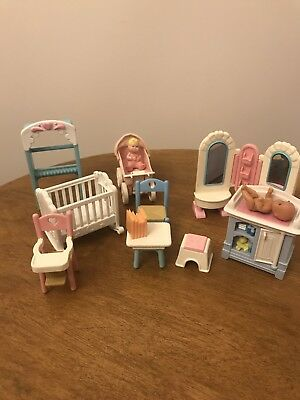 Fisher Price Doll House Loving Family Furniture/Nursery Items And Baby