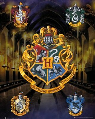 Mini Poster Harry Potter House Crests 40 x 50 cm