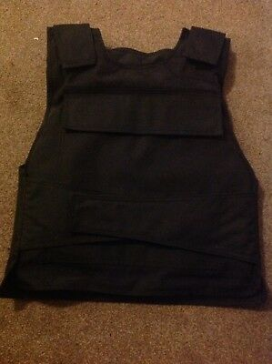 "Body Armour Back + Front Stab Proof Vest -- XXL (approx 48"" chest)"