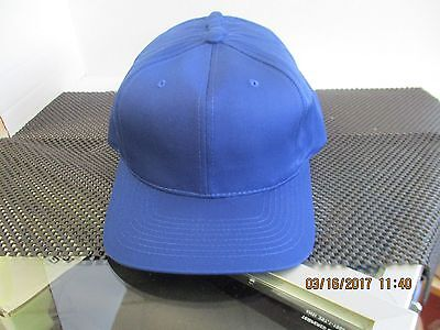 Vintage-Lot Of 12-Solid Royal Blue Caps/hats-6 Panel-Green Under Bill-[12007]