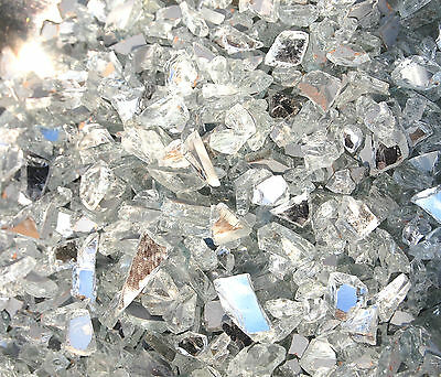 250g / 750 approx Mirror Glass Chippings Pebbles Stones Vase Fish Garden Craft