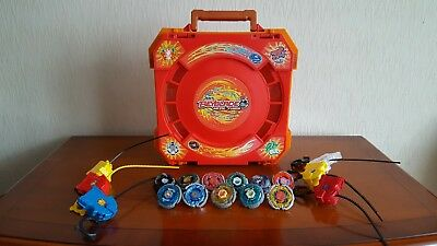 Beyblade Metal Fusion Arena Case With Beyblades Bundle